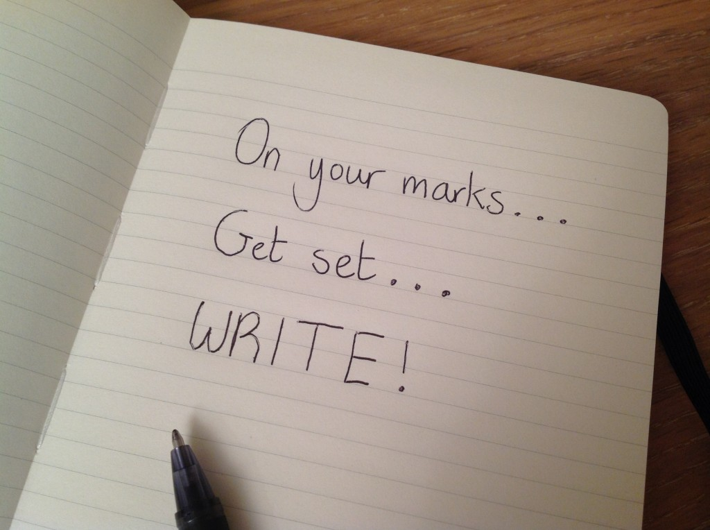 On your marks, get set, WRITE