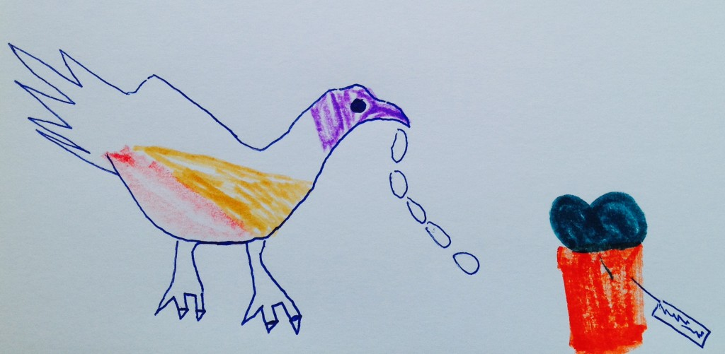 pheasant kids drawing