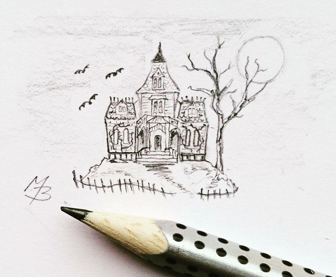 haunted house tiny